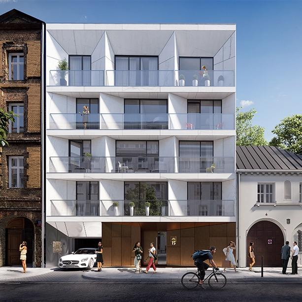 Emilii Plater 15 Warszawa - widok budynku od frontu